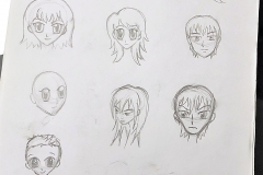 Can you tell which ones are from the book? Oh, and I can totally draw figures. For realsies! I just like faces...
