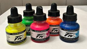 fluid art acrylic ink paint painting daler rowney
