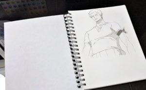 roronoa zoro one piece anime manga drawing sketch