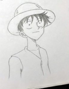 puffy one piece anime manga drawing sketch