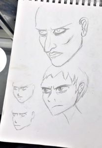 anime mange drawing sketch face angry