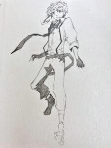 Atsushi Nakajima Bungou Stray Dogs manga anime drawing sketching