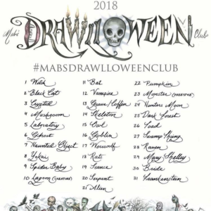 drawlloween October 2018 drawing sketching mab graves