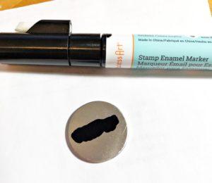 impressart metal stamping stamp blank dog tag enamel pen